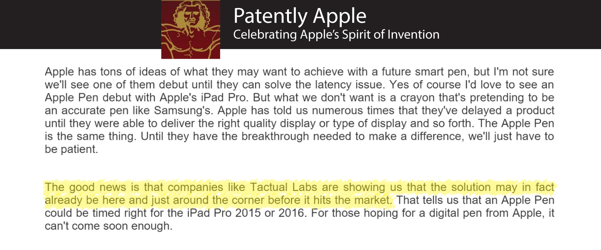 Tactual Featured by Patently Apple